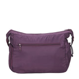 Rachelle Wineberry Purple Embroidery Multi-Pocket Crossbody Bag Back [Wineberry Purple]