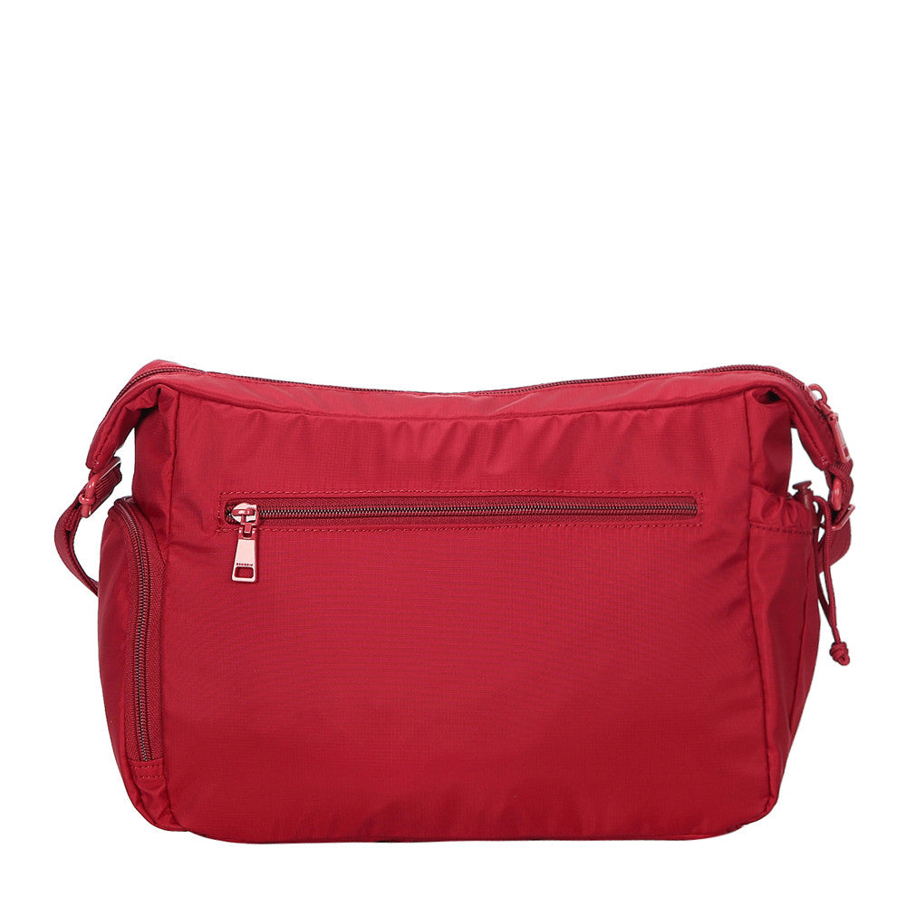 Rachelle Jester Red Embroidery Multi-Pocket Crossbody Bag Back [Jester Red]