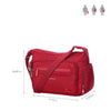 Rachelle Jester Red Embroidery Multi-Pocket Crossbody Bag Size [Jester Red]