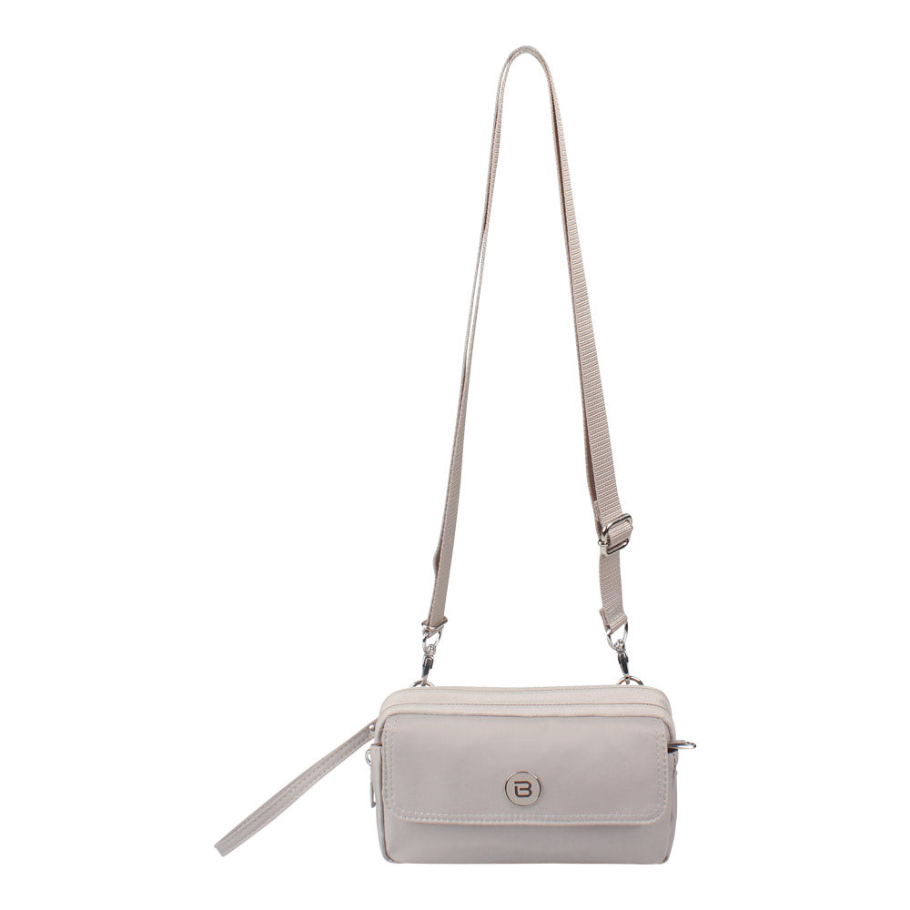 Crossbody Bag - Brannan Crossbody Bag Front Soft Gray