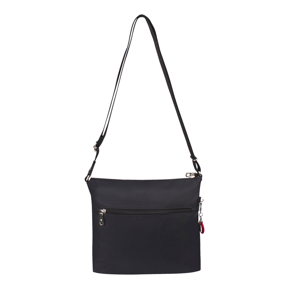 Crossbody Bag - Buena Crossbody Bag Angled Back Black