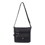 Crossbody Bag - Buena Crossbody Bag Angled Front Black
