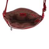 Crossbody Bag - Buena Crossbody Bag Angled Inside Biking Red