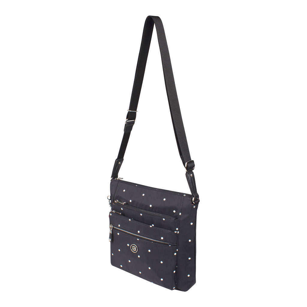 Crossbody Bag - Buena H Printed Crossbody Bag Angled [Star Black]