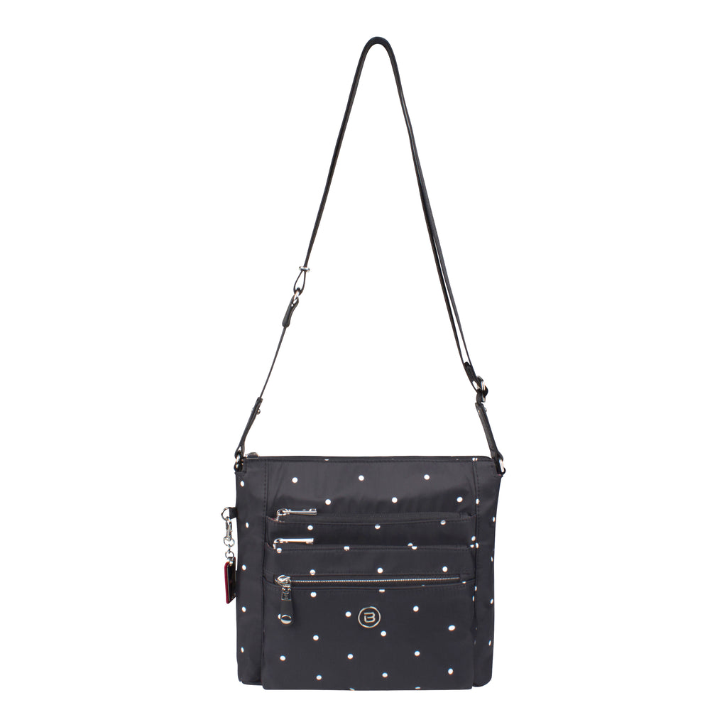 Crossbody Bag - Buena H Printed Crossbody Bag Front [Star Black]