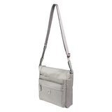 Crossbody Bag - Buena H Embossed Crossbody Bag Angled [Gray Light Embossed Spot]