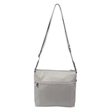 Crossbody Bag - Buena H Embossed Crossbody Bag Back [Gray Light Embossed Spot]