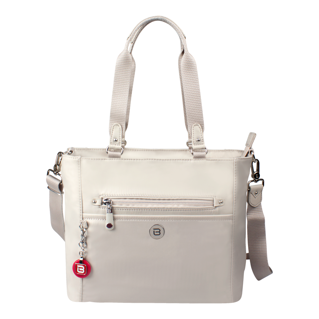 Satchel Handbag - Glen Satchel Bag Front Soft Gray