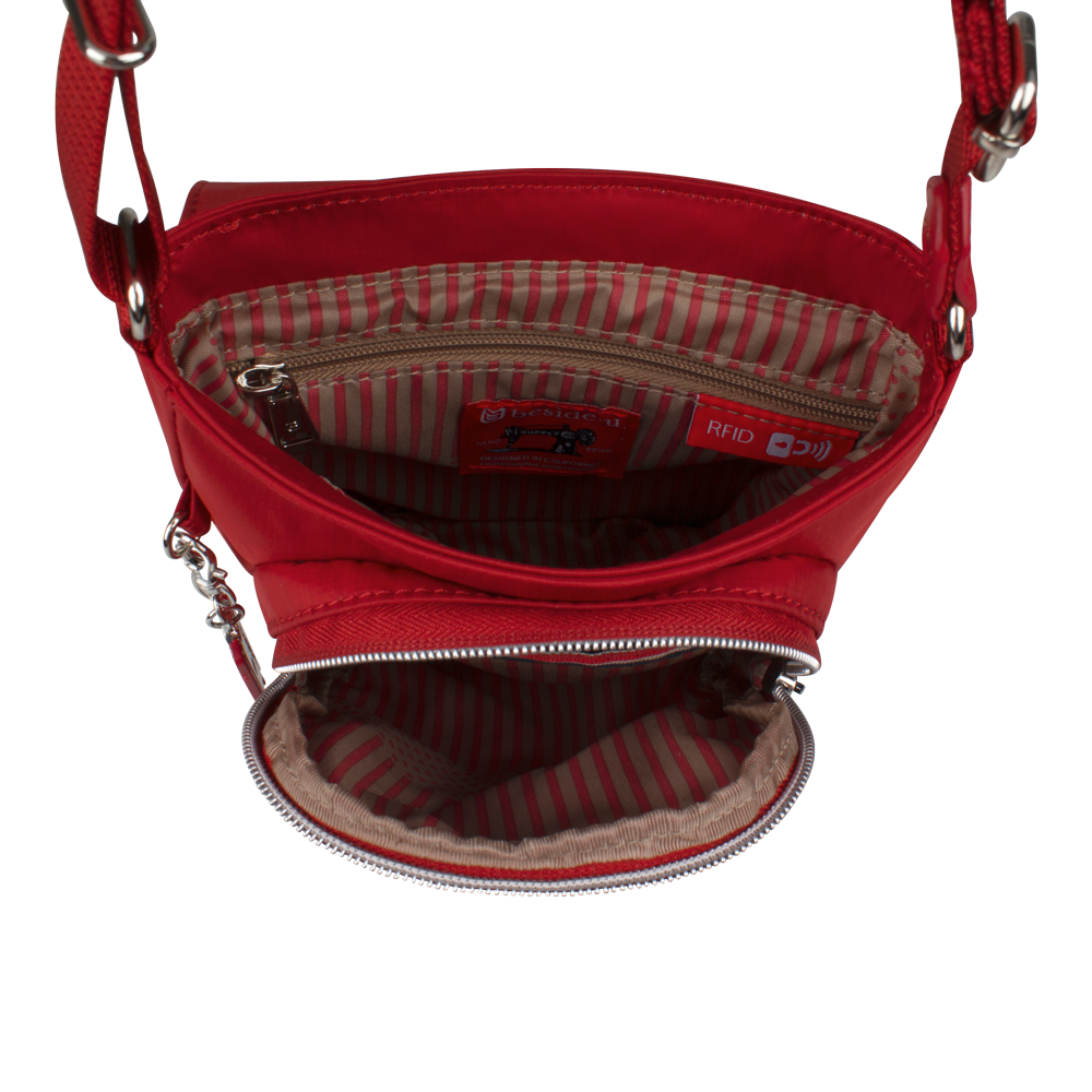 Crossbody Bag - Natoma Crossbody Bag Inside Biking Red