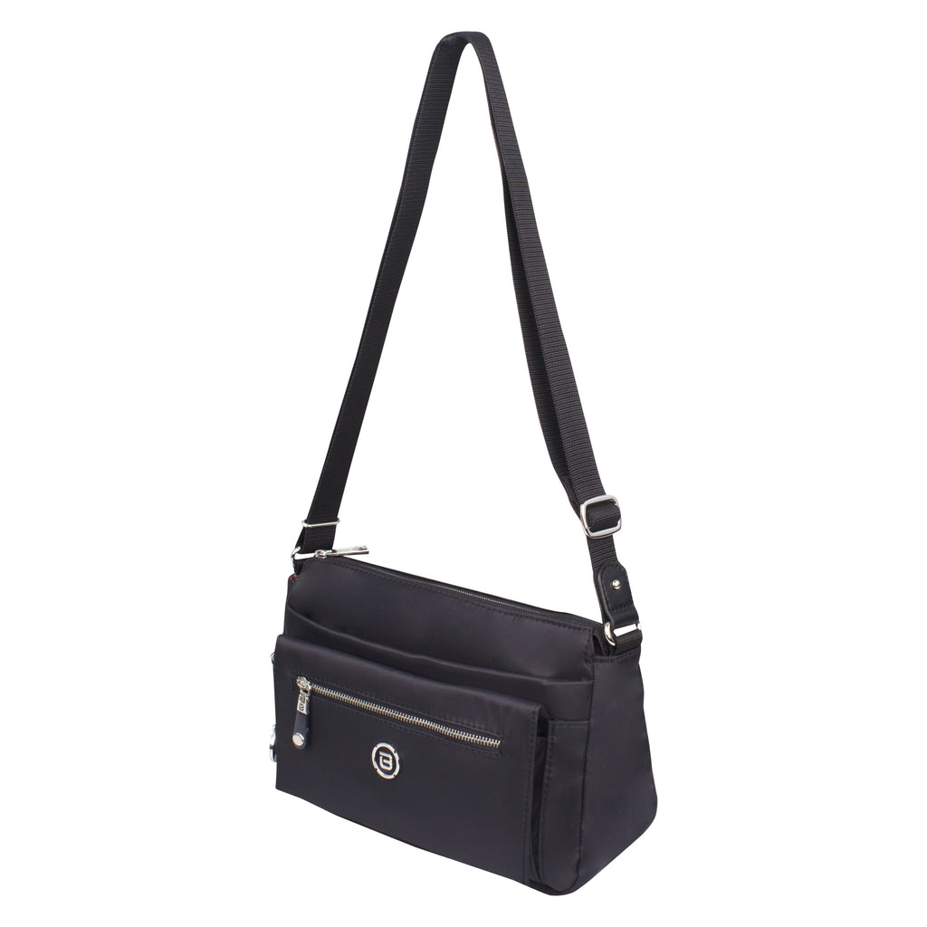 Crossbody Bag - Liya Crossbody Bag Angled [Black]