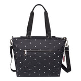 Satchel Handbag - Chica Printed Satchel Bag Back [Star Black]