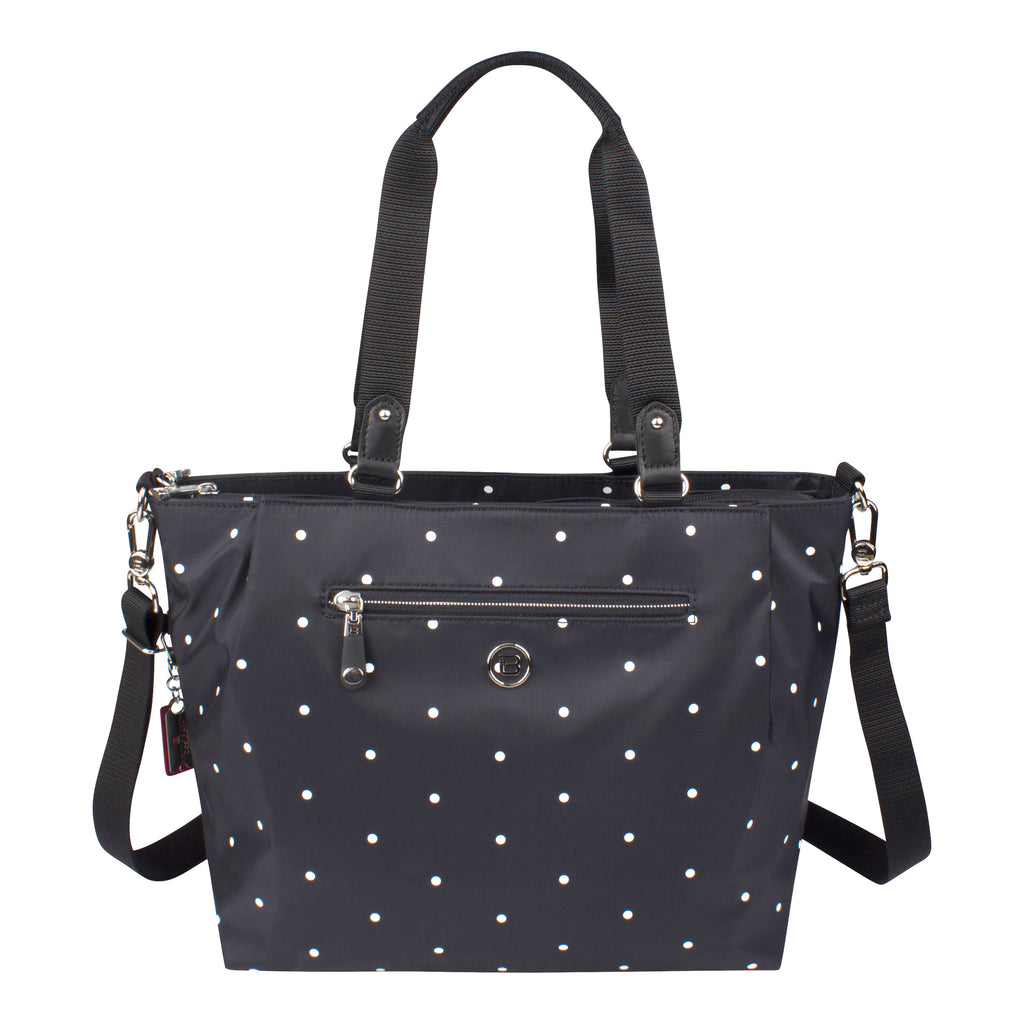 Satchel Handbag - Chica Printed Satchel Bag Front [Star Black]