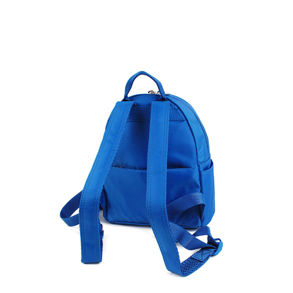 Backpack - Baxter Leather Trimmed Mini Backpack With Red Whistle Back [Strong Blue]