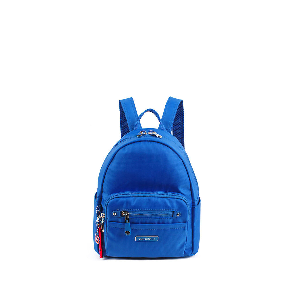 Backpack - Baxter Leather Trimmed Mini Backpack With Red Whistle Front [Strong Blue]