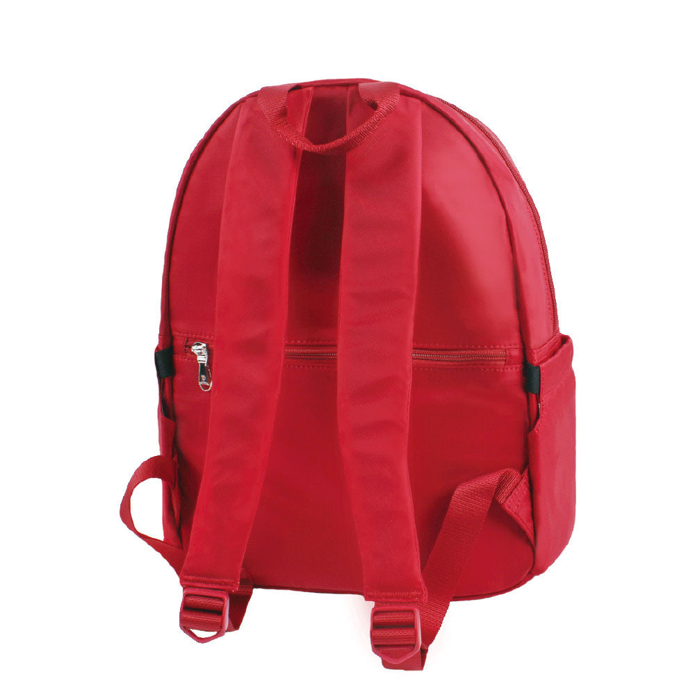 Backpack - Amarillo Leather Trimmed Adventurer Backpack Back [Jester Red]