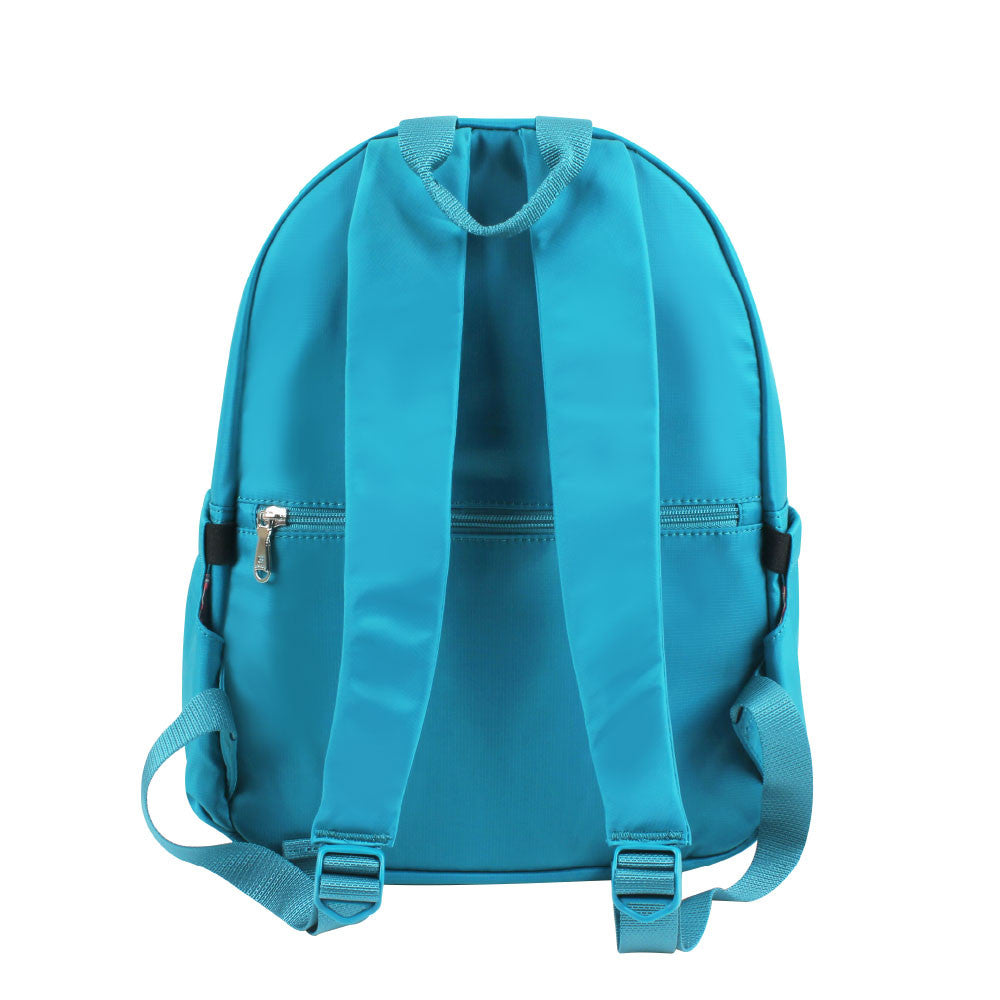 Backpack - Amarillo Leather Trimmed Adventurer Backpack Back [Ocean Blue]