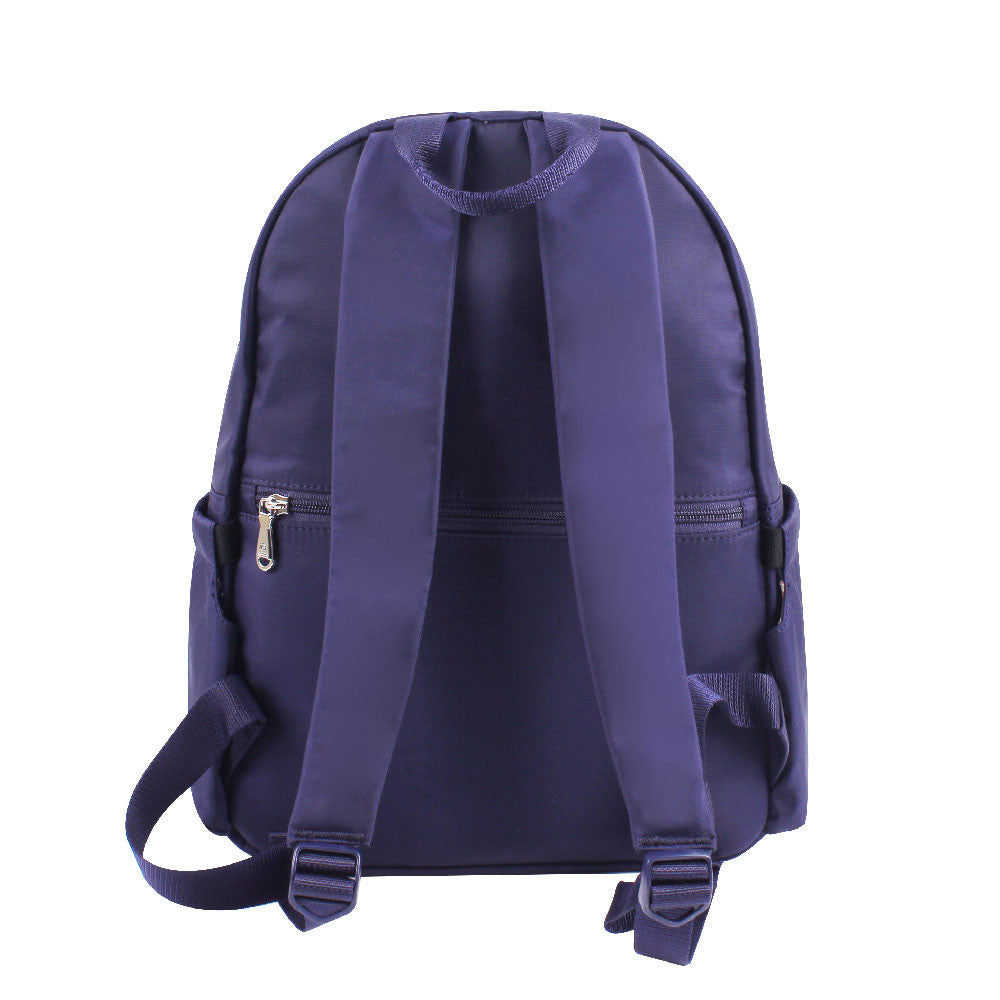 Backpack - Amarillo Leather Trimmed Adventurer Backpack Back [Evening Blue]