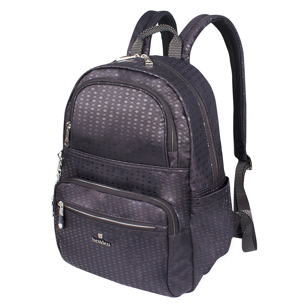 Backpack - Karissa Embossed Medium Backpack Angled [Black Diamond]