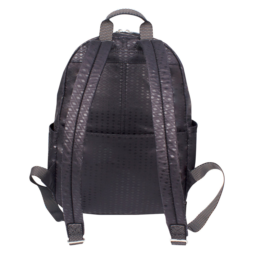 Backpack - Karissa Embossed Medium Backpack Back Black Diamond