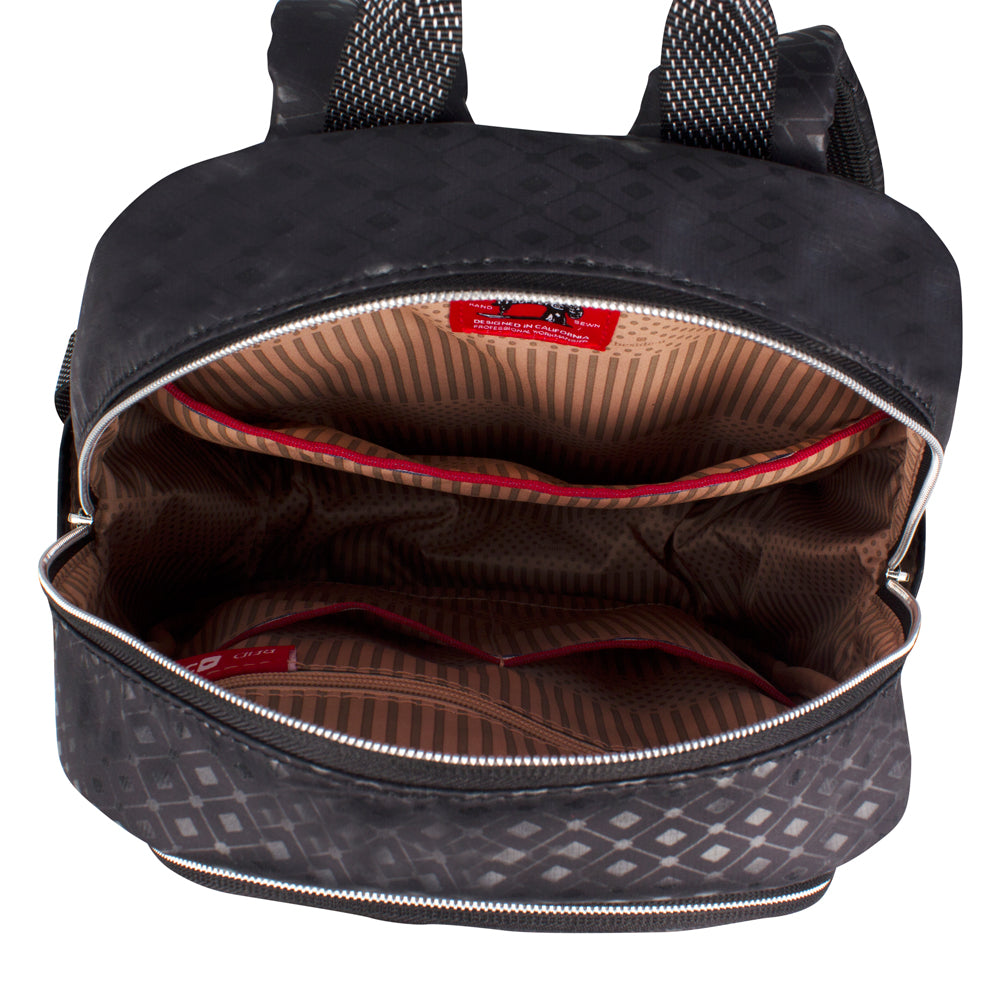 Backpack - Karissa Embossed Medium Backpack Inside Black Diamond