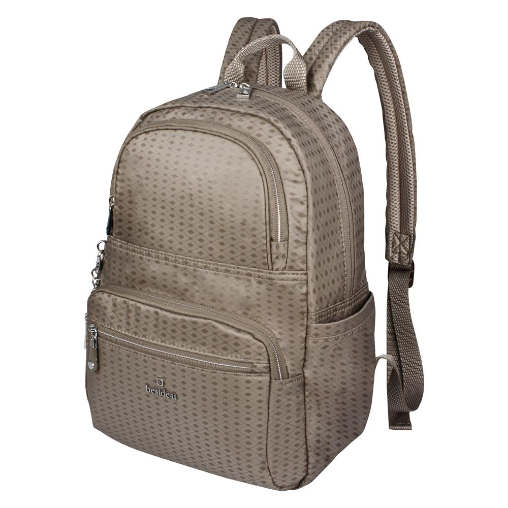 Backpack - Karissa Embossed Medium Backpack Angled [Cinder Gray Diamond]