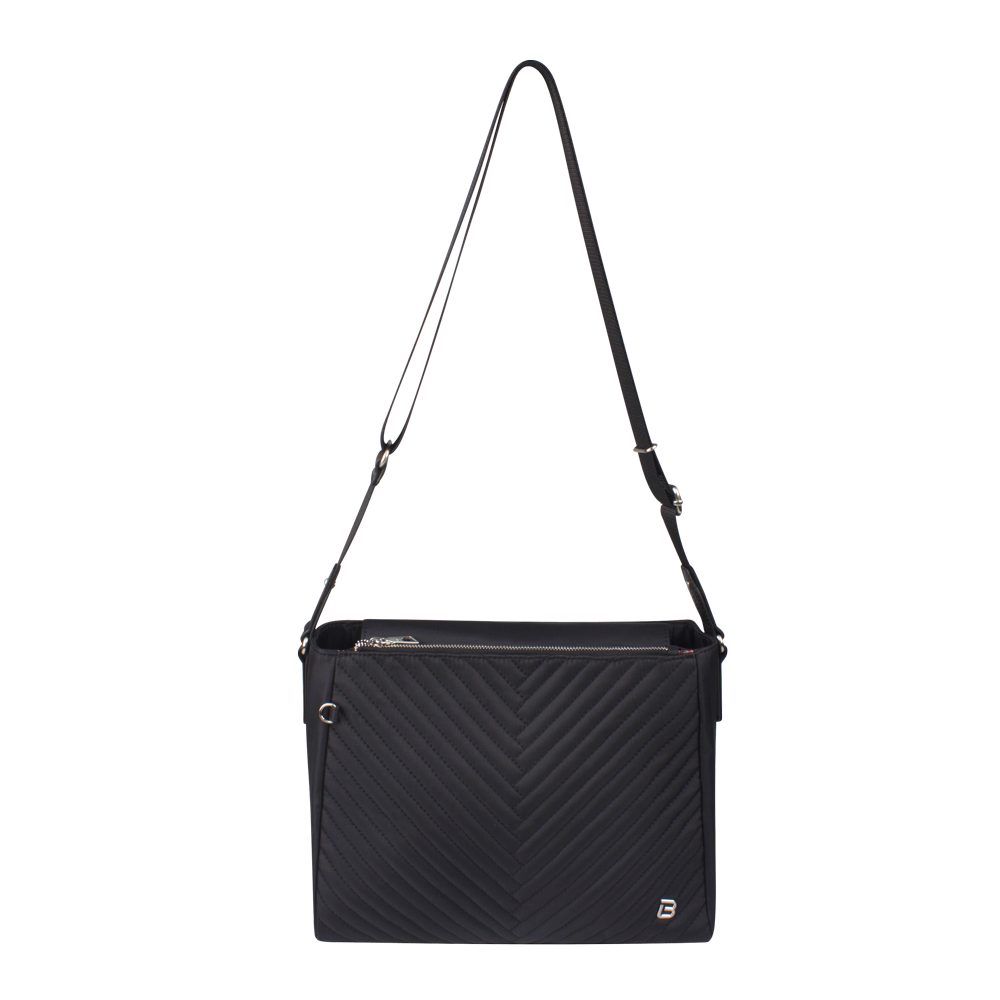 Crossbody Bag - Tomey Crossbody Bag Front Black