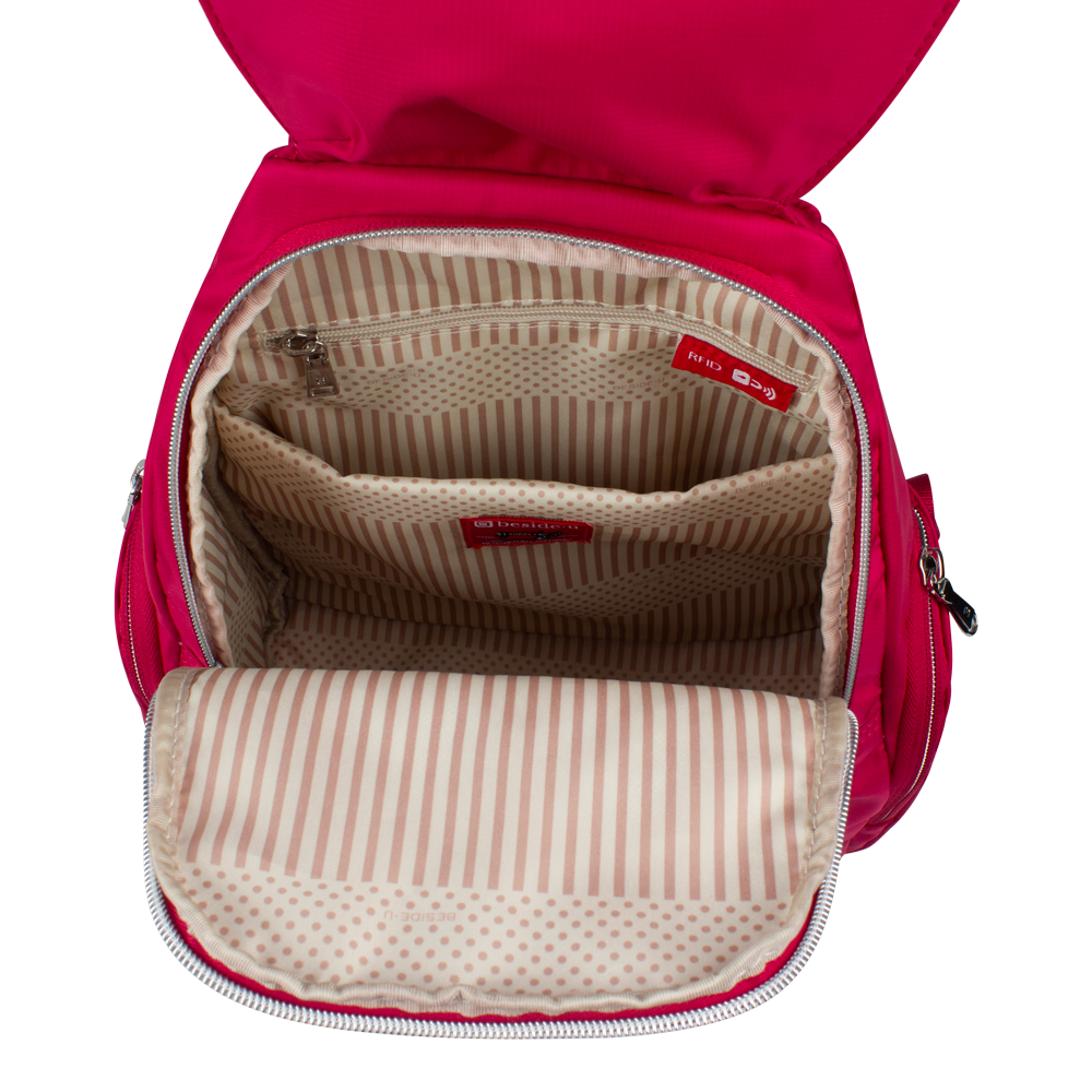 Backpack - Edgehill Medium Backpack Inside Raspberry Soda