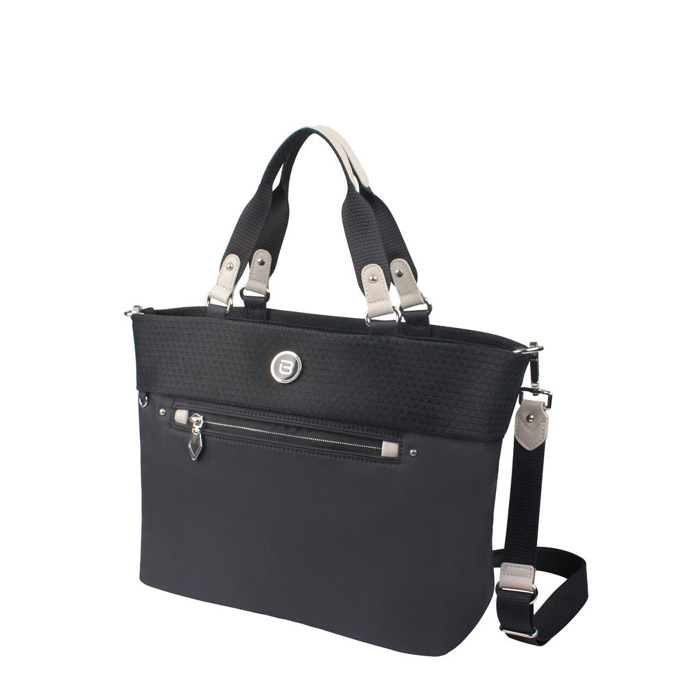Satchel Handbag - Rincon Satchel Bag Angled [Black Mesh]