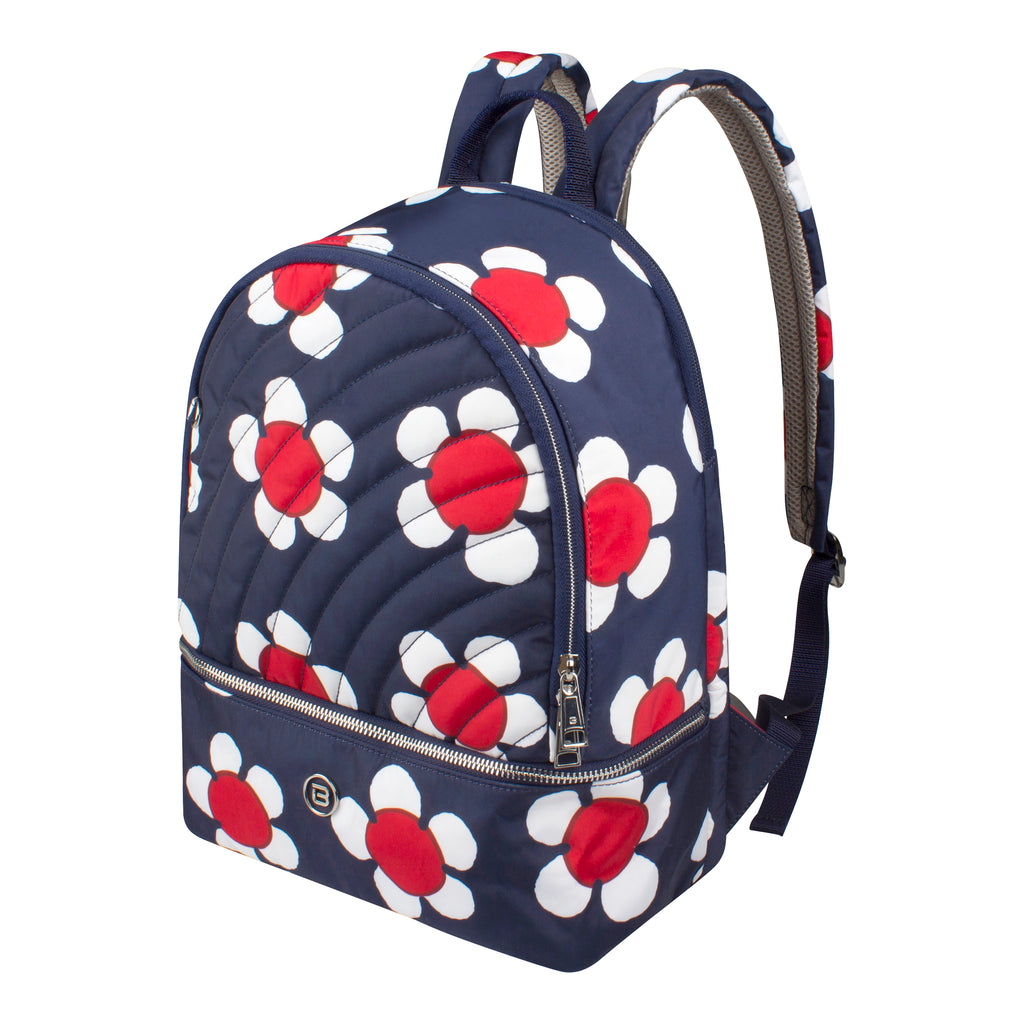 Backpack - Scarlet Medium Backpack Angled [Navy Daisy]