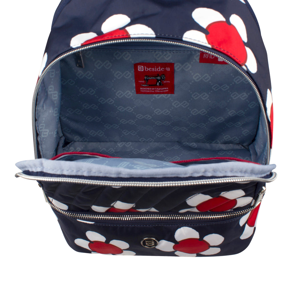 Backpack - Scarlet Medium Backpack Inside [Navy Daisy]