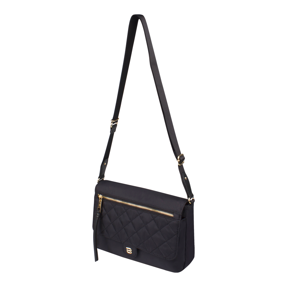 Crossbody Bag - Dillon Crossbody Bag Angled [Black]