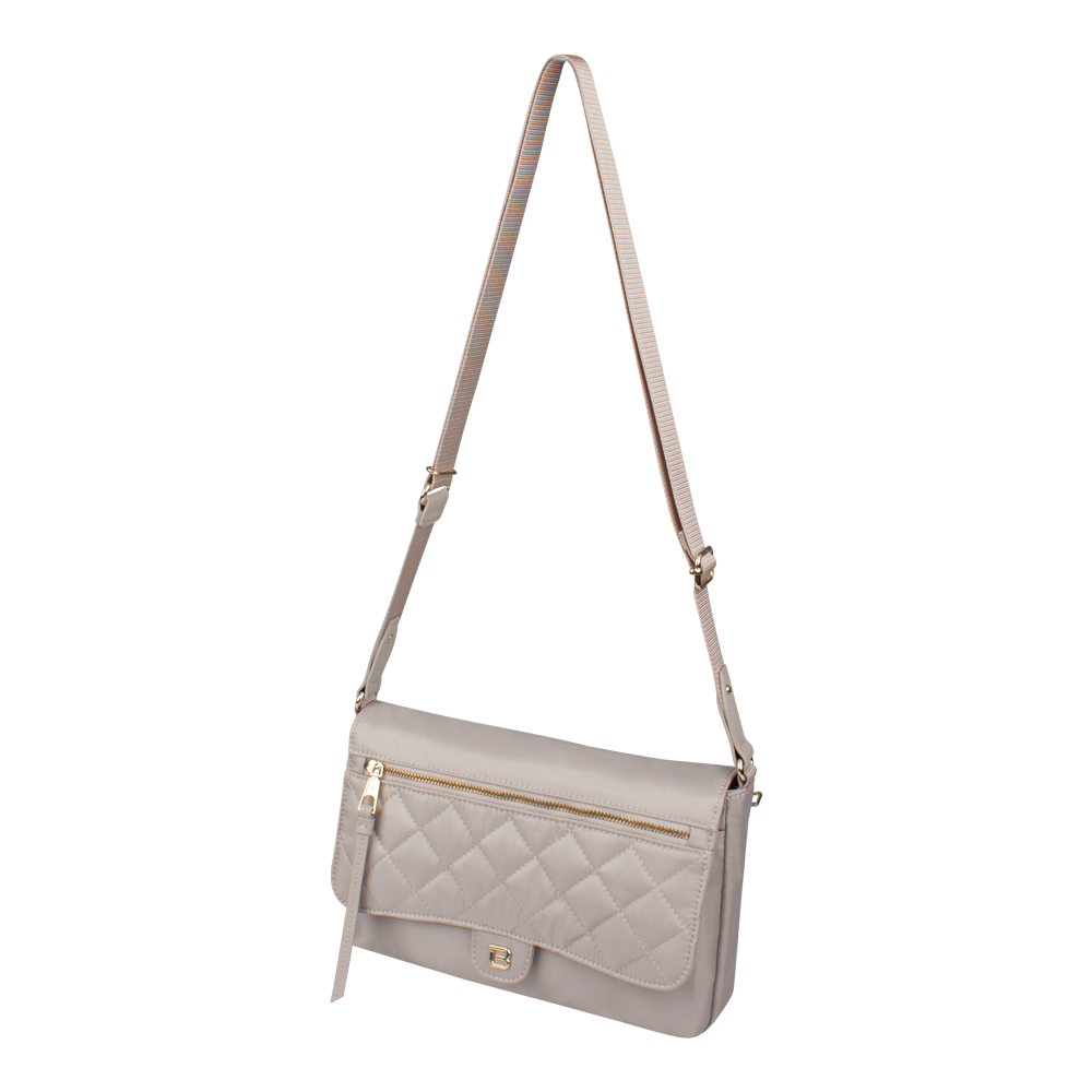 Crossbody Bag - Dillon Crossbody Bag Angled [Soft Gray]