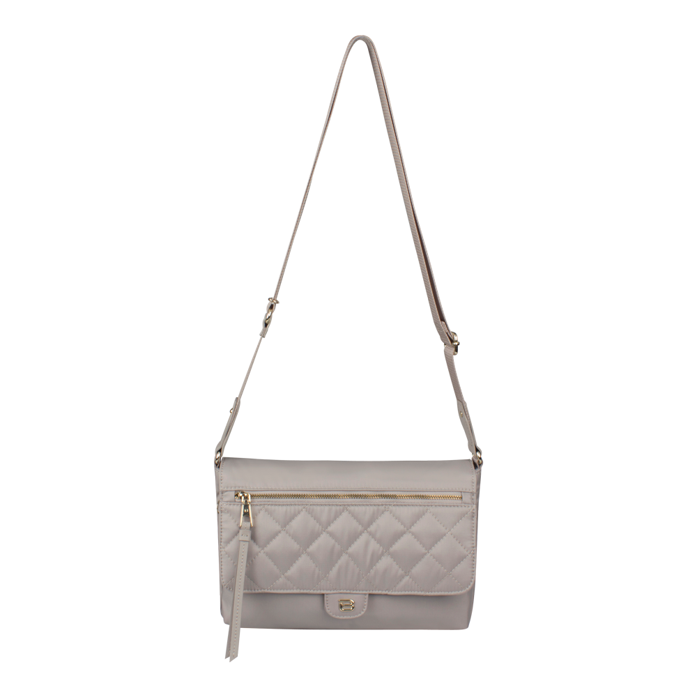 Crossbody Bag - Dillon Crossbody Bag Front Soft Gray