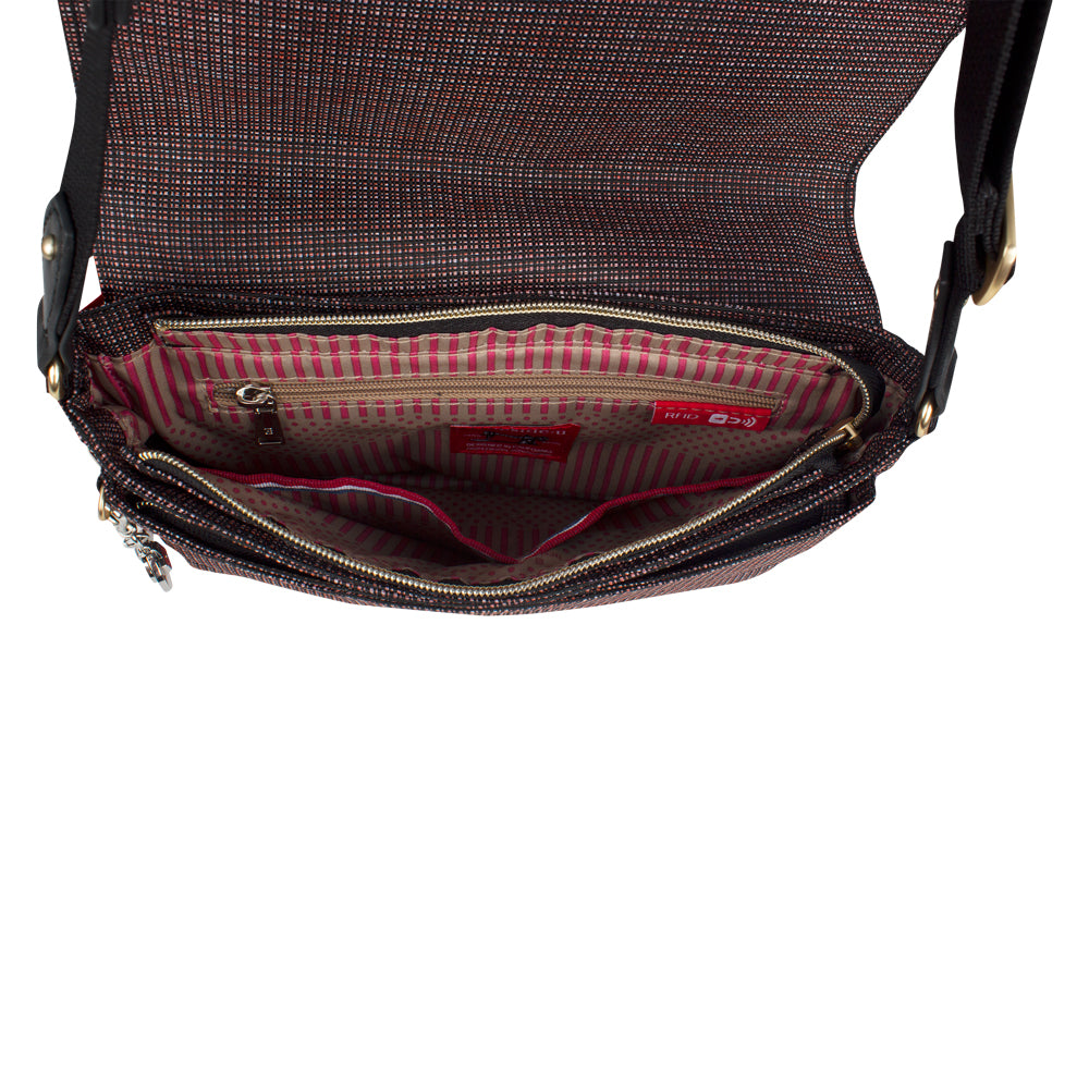 Crossbody Bag - Nysa Crossbody Bag Inside Tricolor Red
