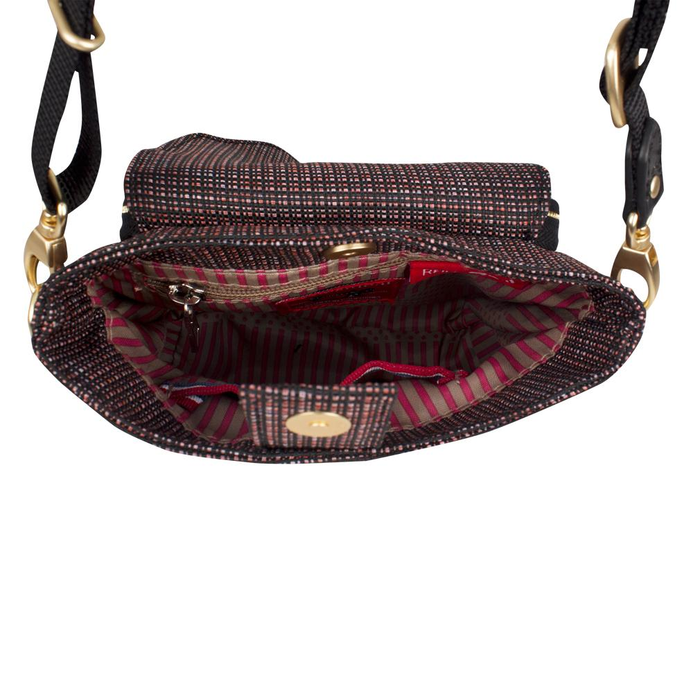Crossbody Bag - Issa Crossbody Bag Inside [Tricolor Red]