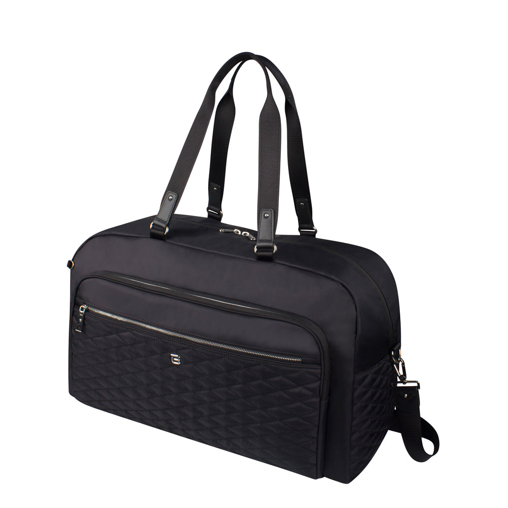 Duffel Handbag - Senford Duffel Bag Angled [Black]