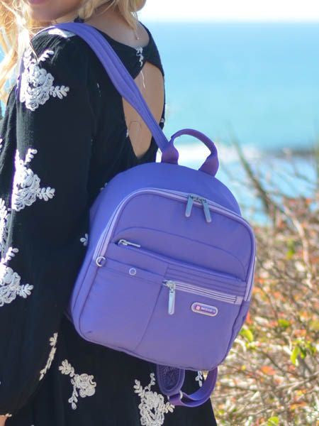 Backpack - Denis Two-Tone Leisure Travel Backpack Purple Opulence Model