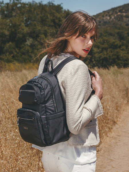 Backpack - Amarillo Leather Trimmed Adventurer Backpack Black Model