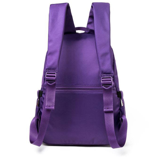 Backpack - Amarillo Leather Trimmed Adventurer Backpack Back [Majesty Purple]