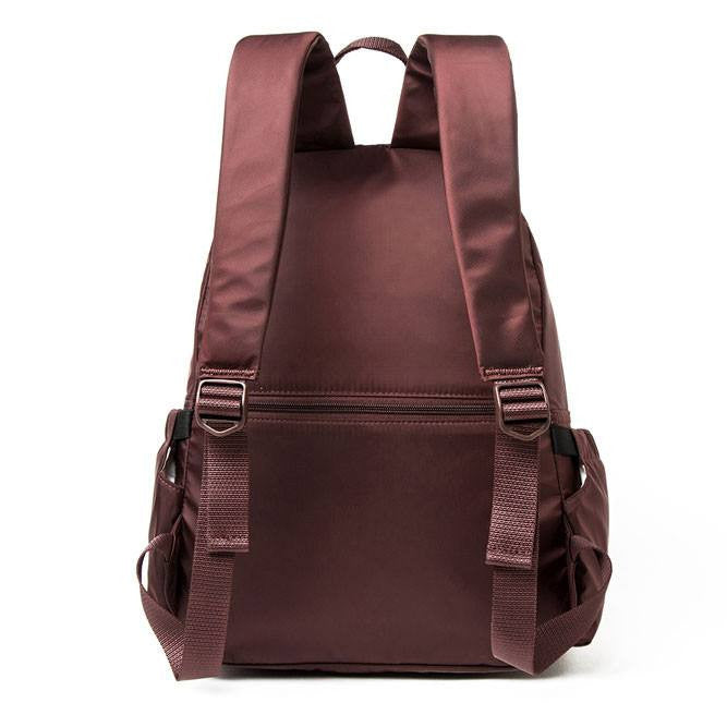 Backpack - Amarillo Leather Trimmed Adventurer Backpack Back [Bitter Brown]