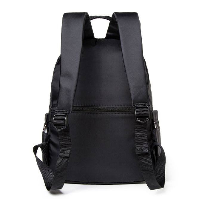 Backpack - Amarillo Leather Trimmed Adventurer Backpack Back [Black]