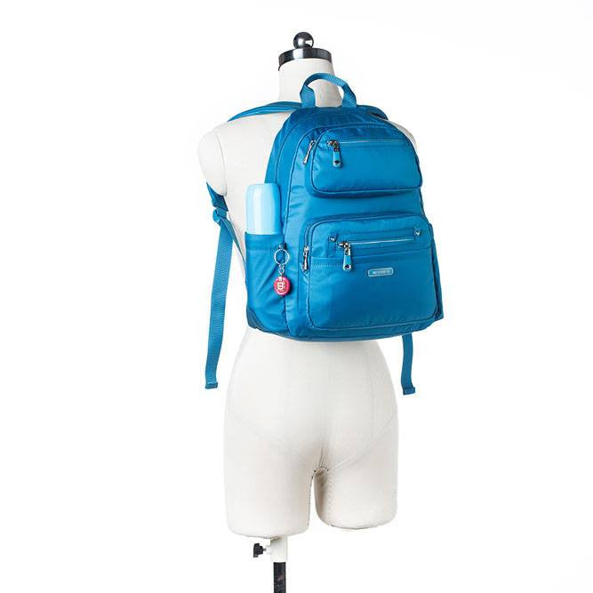 Backpack - Amarillo Leather Trimmed Adventurer Backpack Mannequin