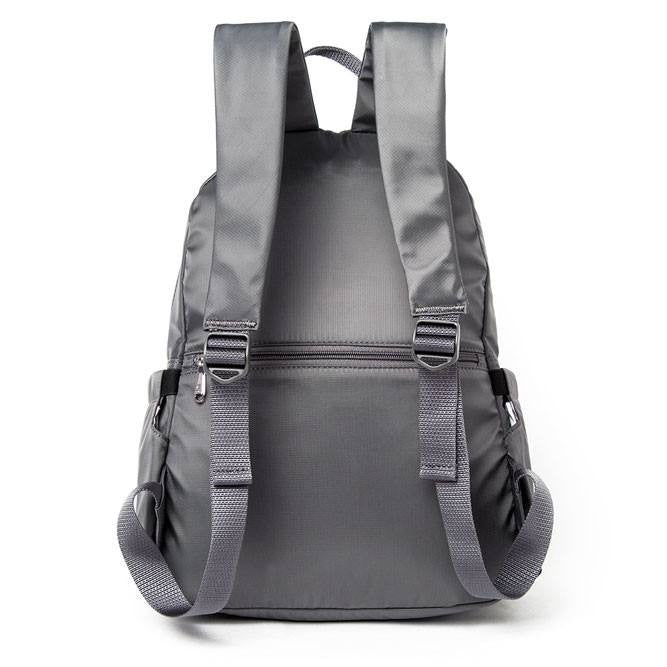 Backpack - Amarillo Leather Trimmed Adventurer Backpack Back [Kitten Grey]
