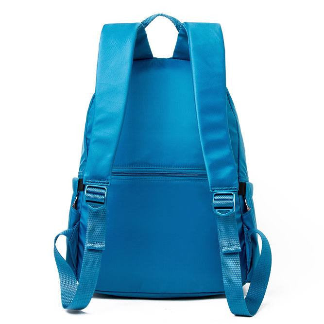 Backpack - Amarillo Leather Trimmed Adventurer Backpack Back [Sapphire Blue]