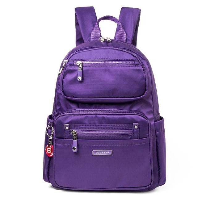 Backpack - Amarillo Leather Trimmed Adventurer Backpack Front [Majesty Purple]
