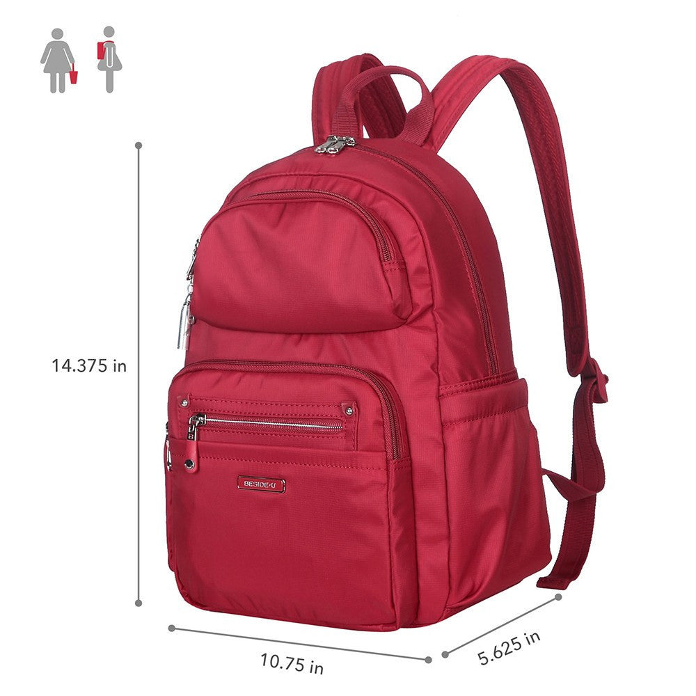 Backpack - Arroyo Leather Trimmed City Backpack Size [Jester Red]