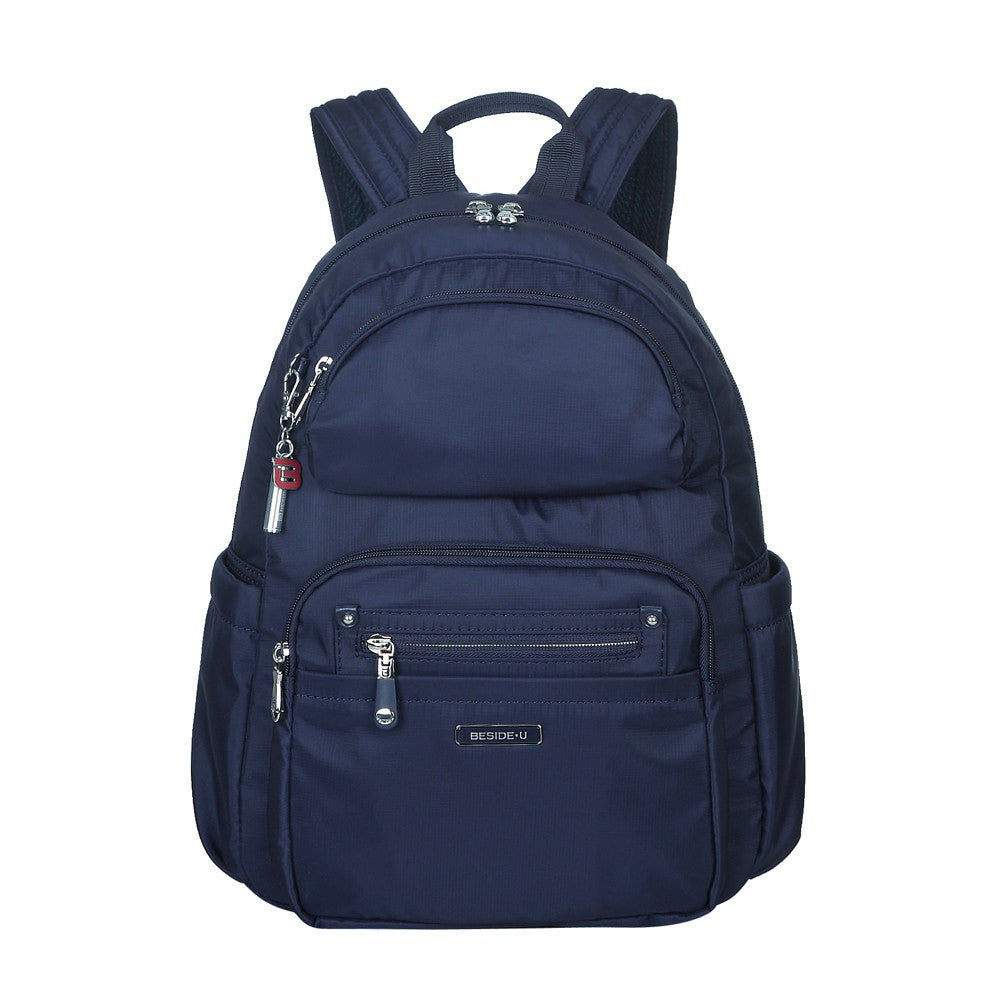 Backpack - Arroyo Leather Trimmed City Backpack Front [Evening Blue]