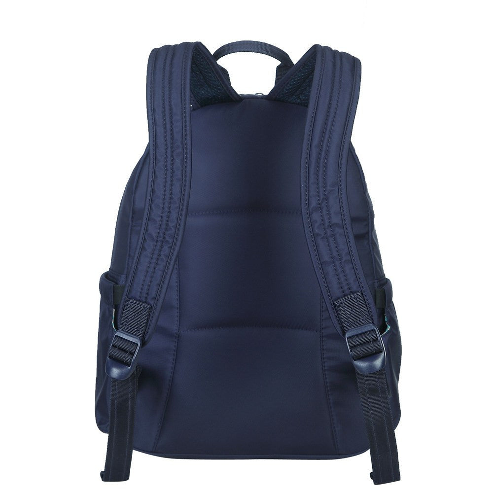 Backpack - Arroyo Leather Trimmed City Backpack Back [Evening Blue]