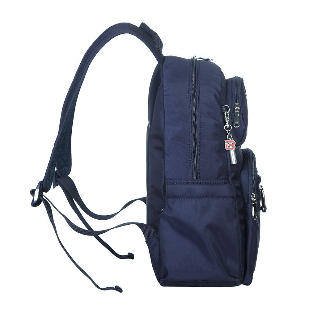 Backpack - Arroyo Leather Trimmed City Backpack Side [Evening Blue]
