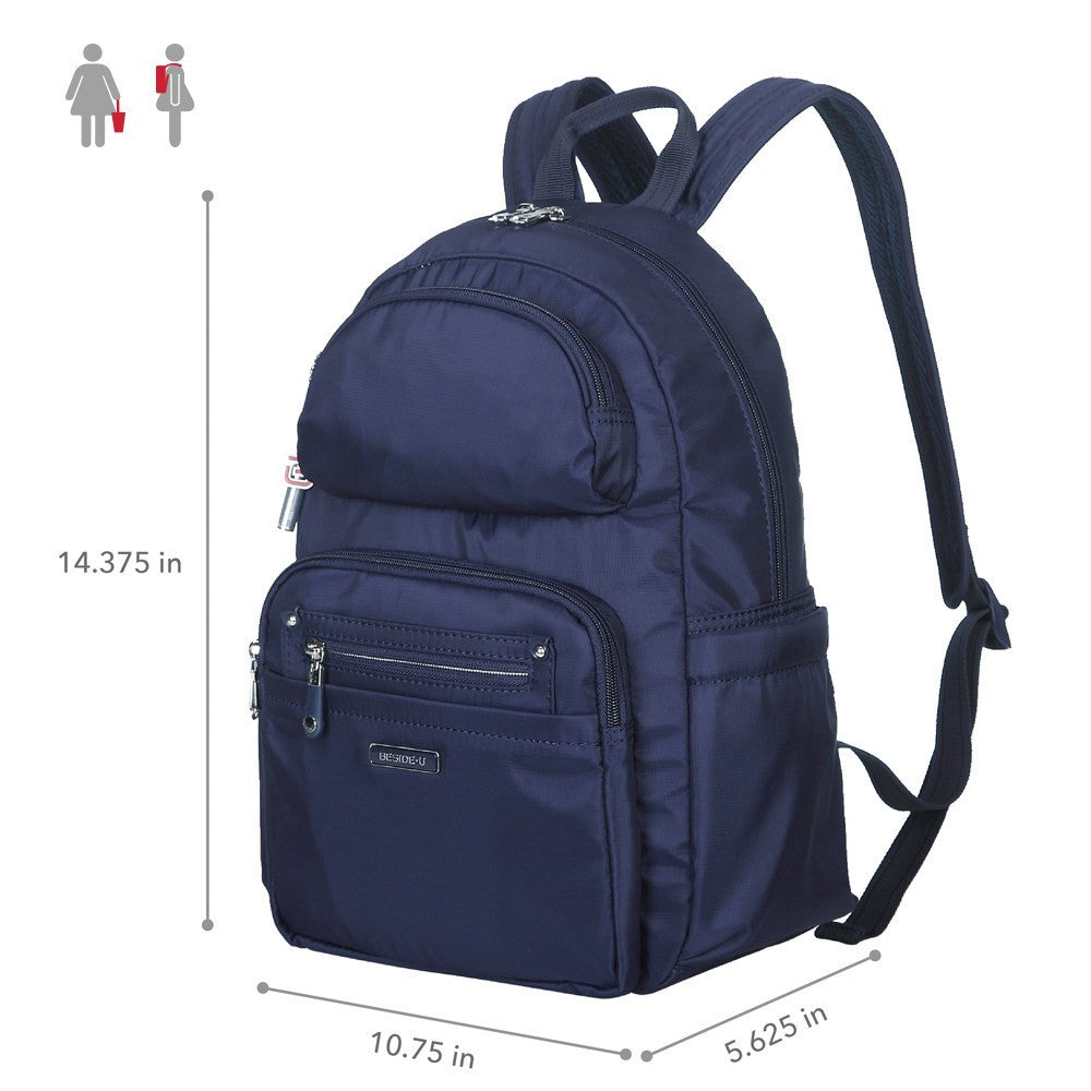 Backpack - Arroyo Leather Trimmed City Backpack Size [Evening Blue]